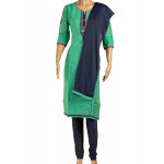 Cotton Embroidered Sea Green Salwar Suit With Dupatta 02