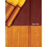Yellow Silk Saree With Coffee Brown Border