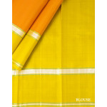 Orange Silk Saree With Green Border