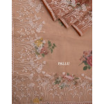 Organza Saree With Digital Prints And Thread Worked Border 05